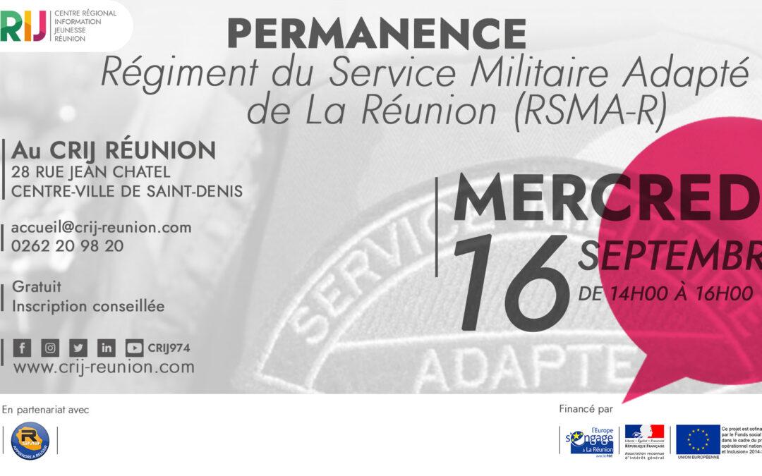 Permanence du RSMA-R au CRIJ Réunion